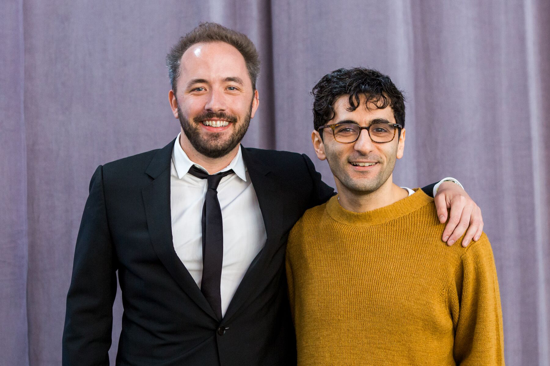 Drew Houston and Arash Ferdowsi in 2017