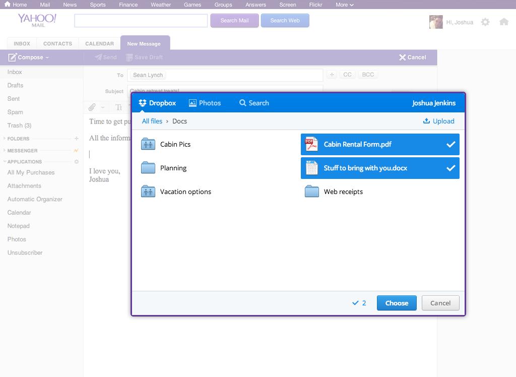 Yahoo! Mail + Dropbox | Dropbox Blog