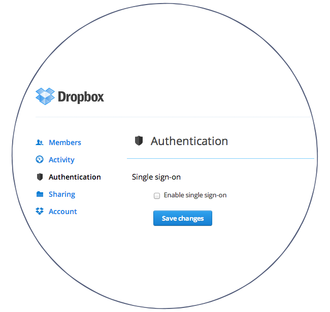 Dropbox single-sign-on (SSO)