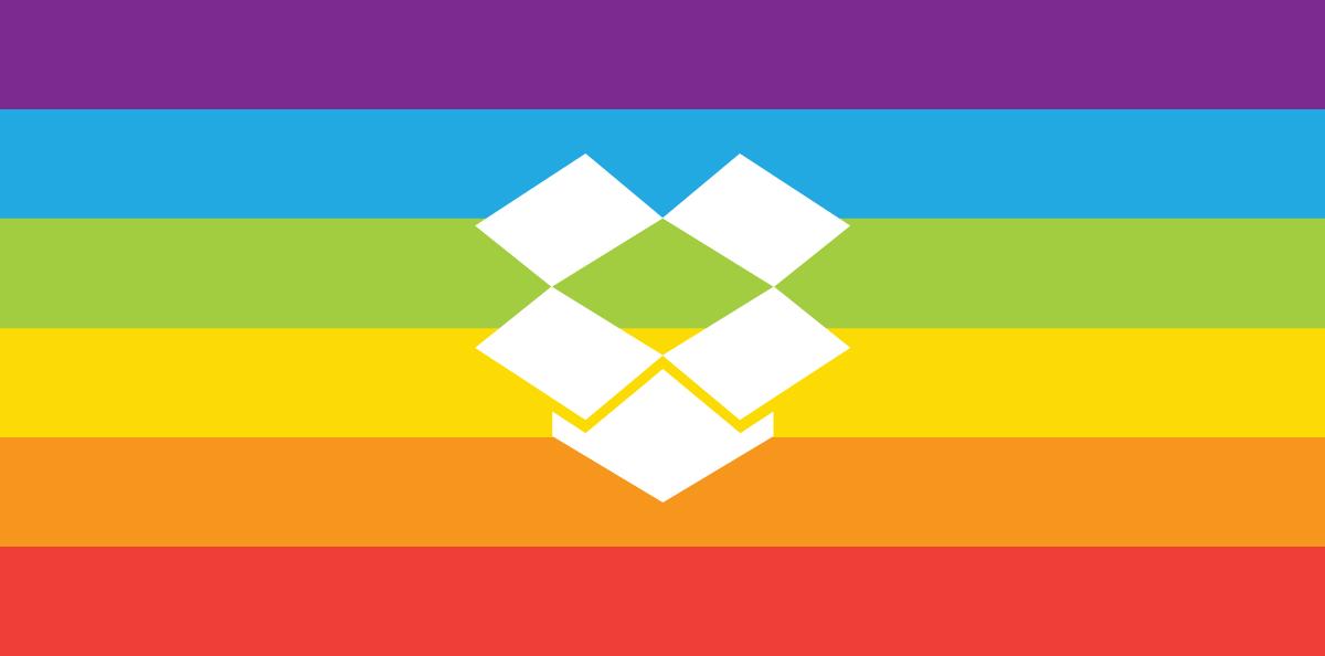 Dropbox pride logo