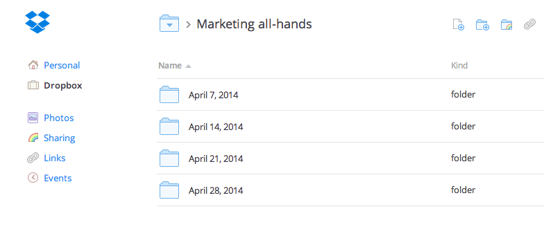 Dropbox for Business productivity hack: recurring meetings