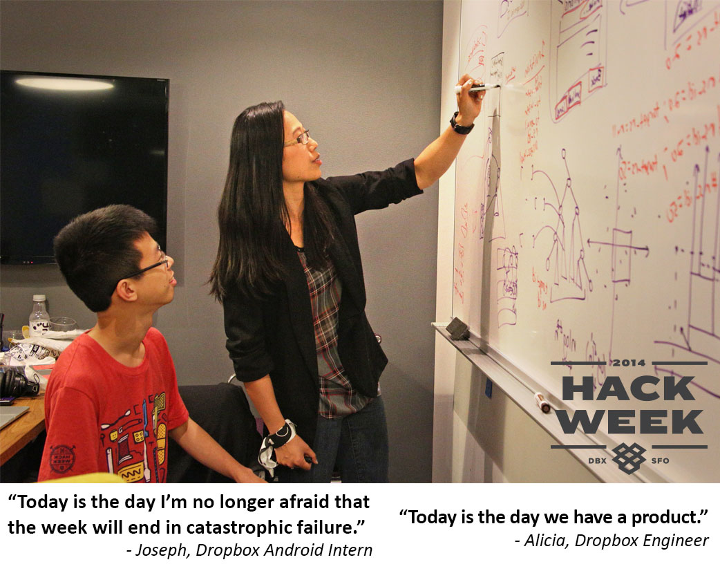 Dropbox Hack Week - Joseph and Alicia are looking forward to the end of the week
