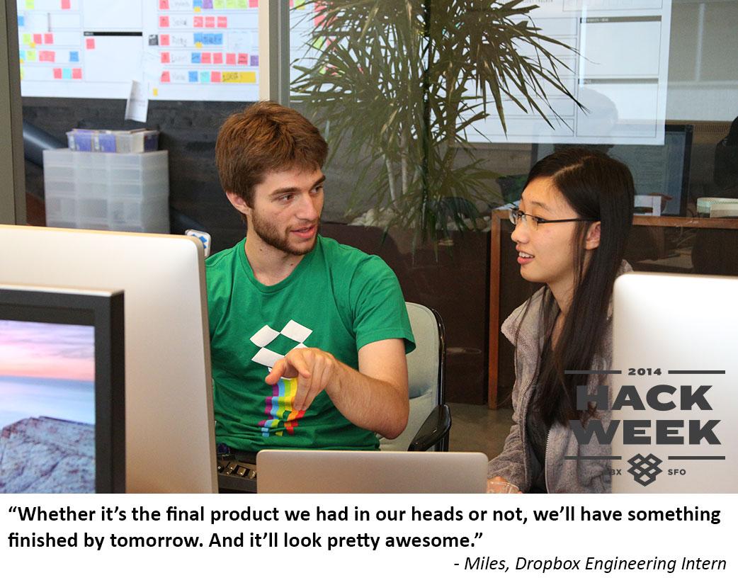 Dropbox Hack Week - Miles is feeling awesome