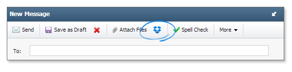 Rackspace toolbar - Dropbox integration