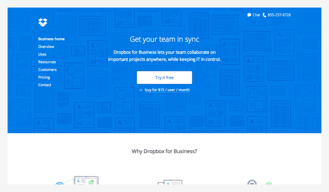New Dropbox for Business website