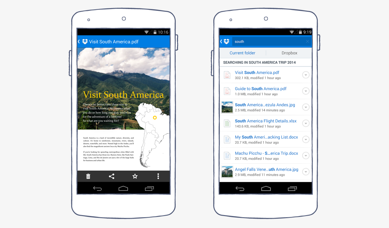 Dropbox for Android: Introducing doc previews and smarter search 2@2x