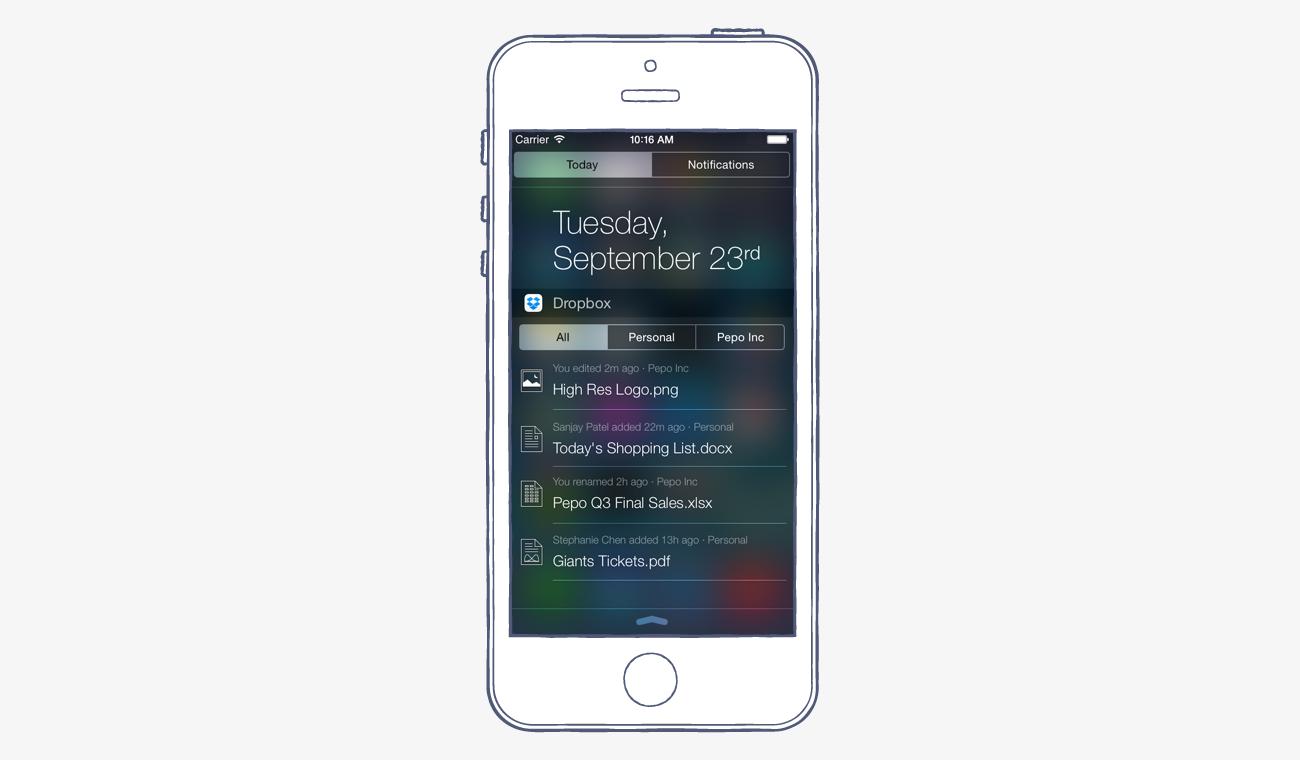 Dropbox for iOS8