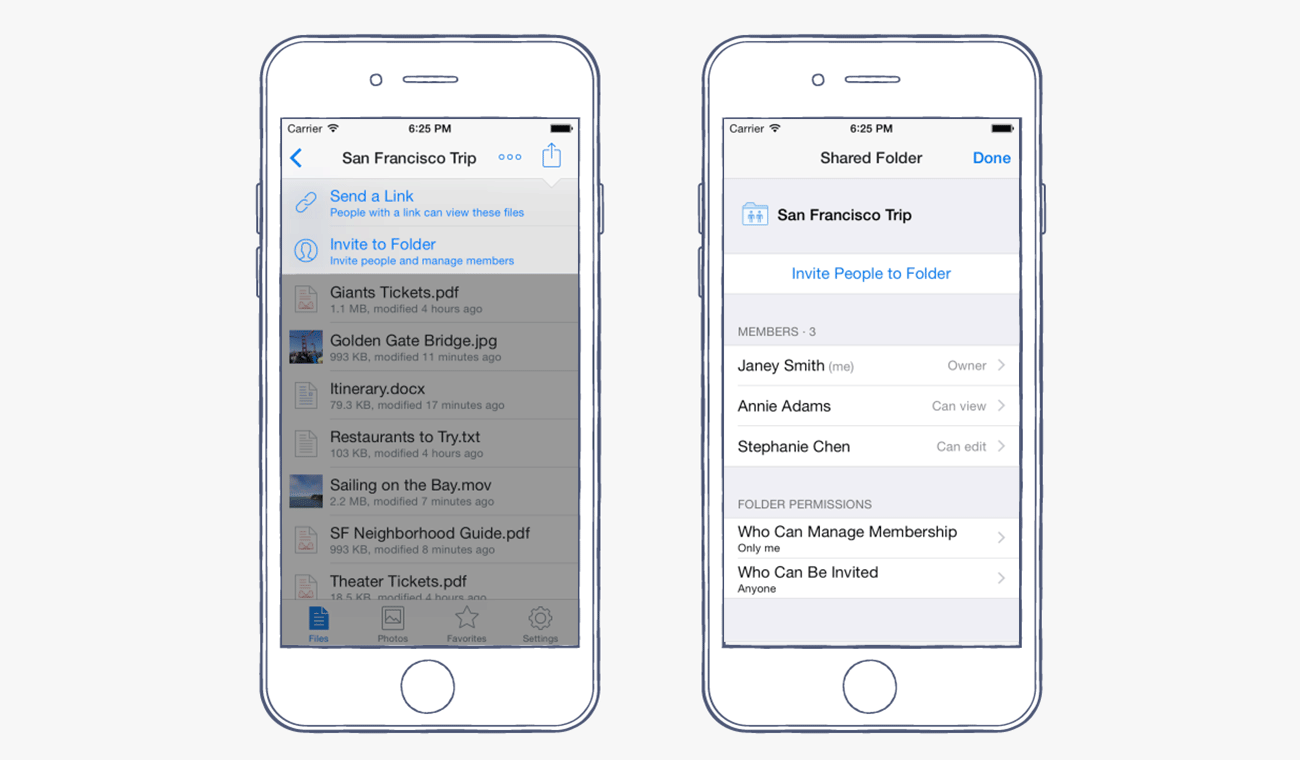 Dropbox for iOS8