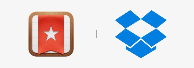 Wunderlist and Dropbox