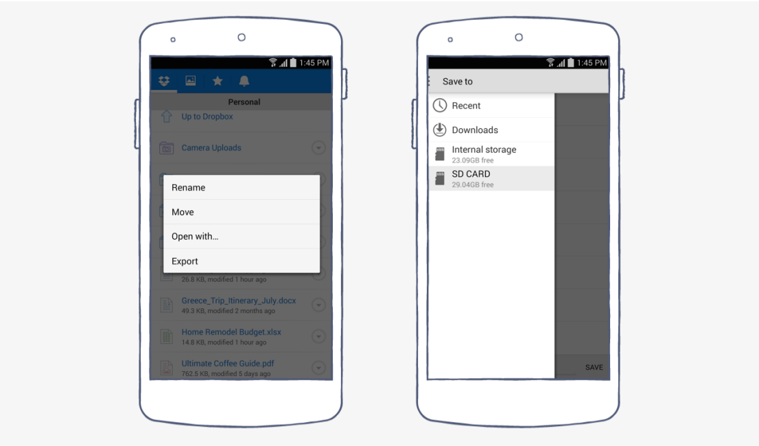 New Dropbox for Android
