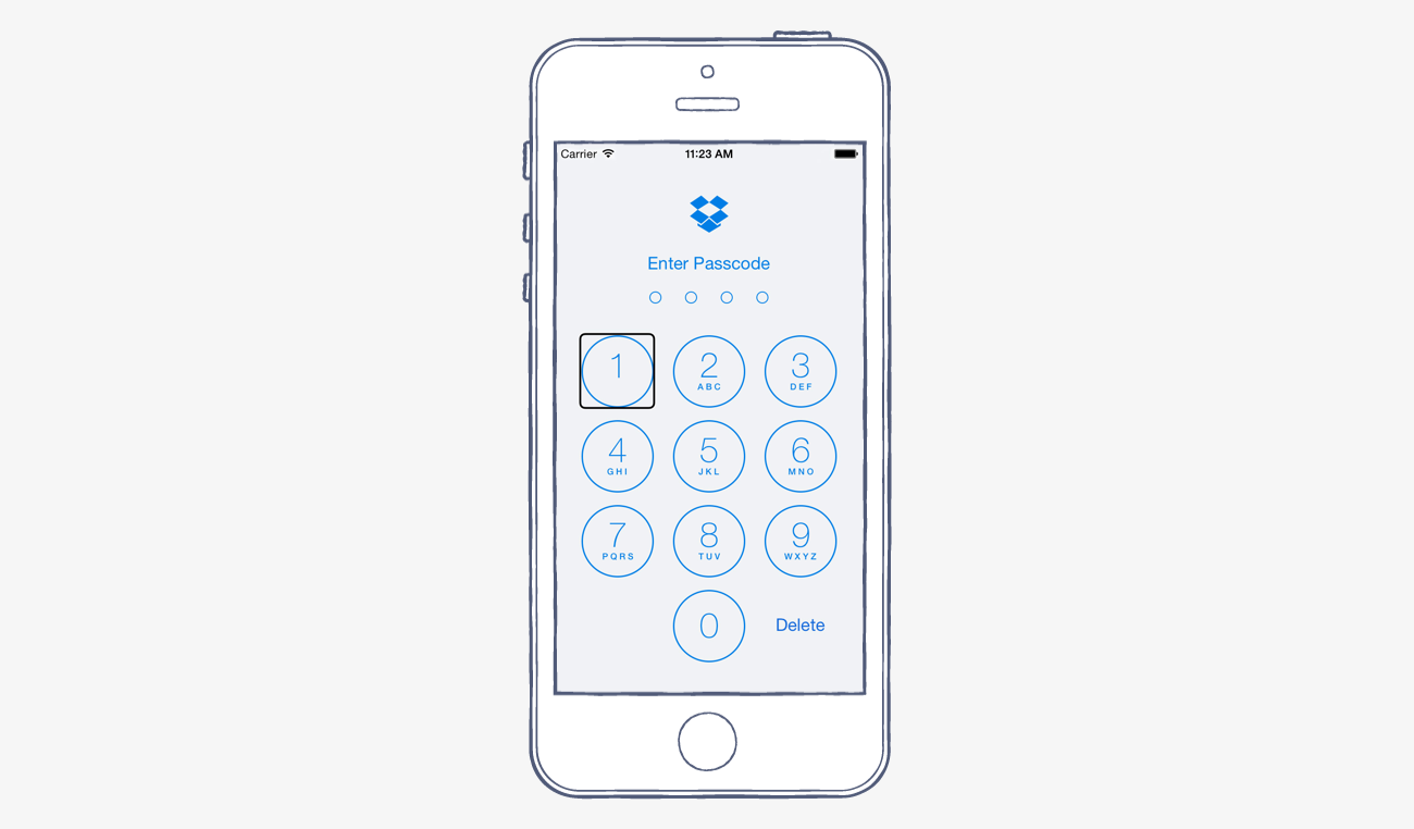 Dropbox for iOS accessibility