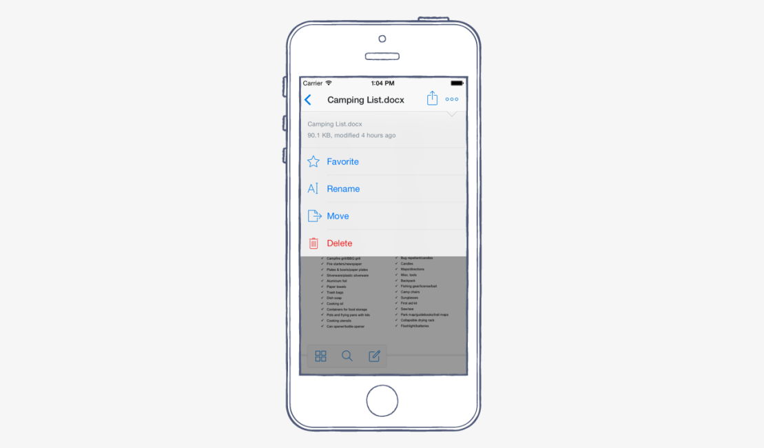 rename files and folders with our latest ios app