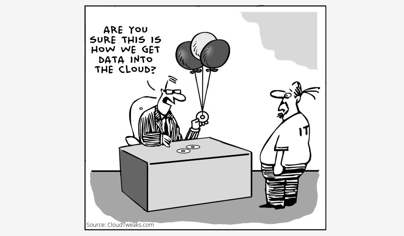 Cloud computing cartoon