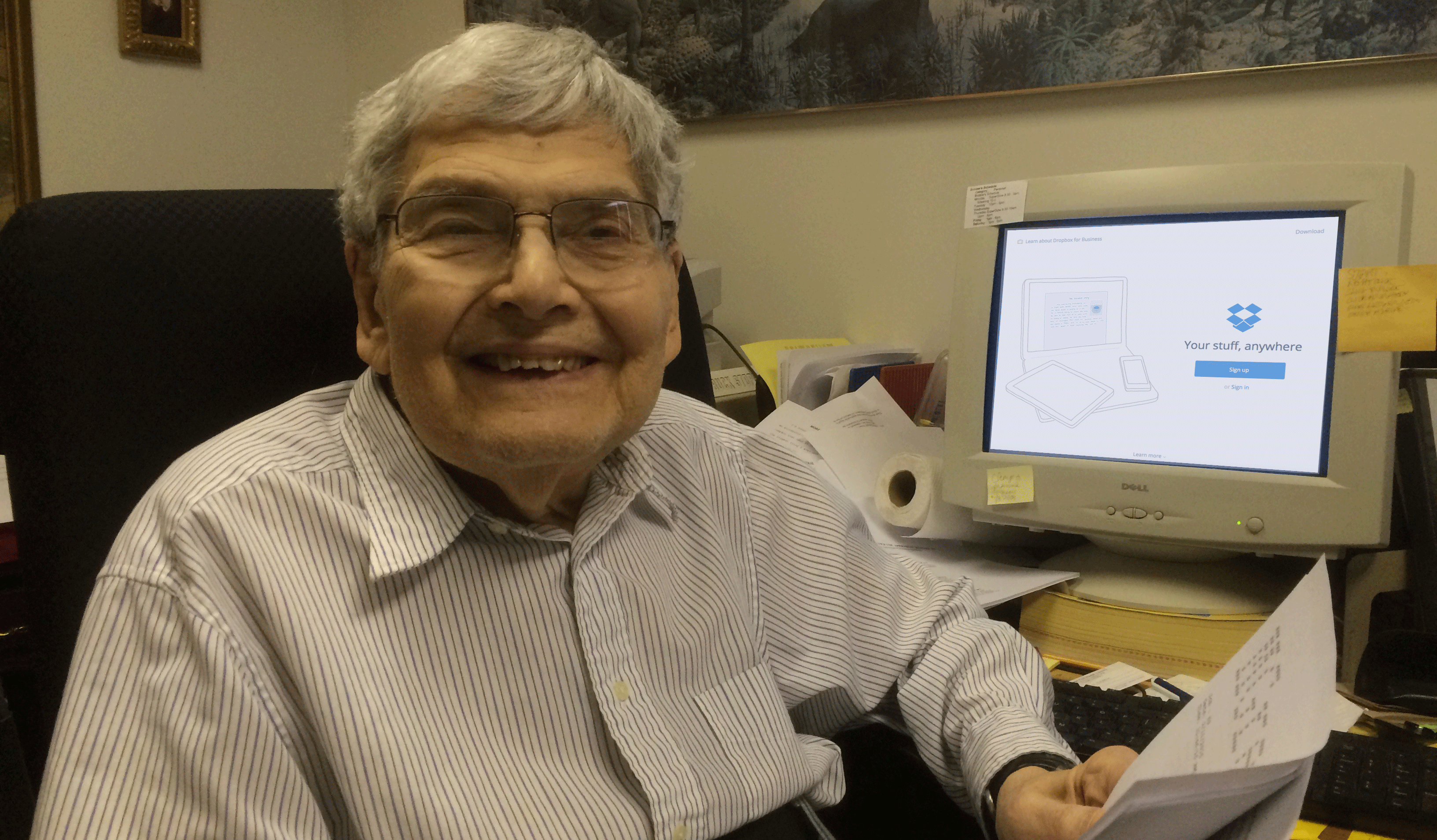89-year-old Dropbox user Marvin Green