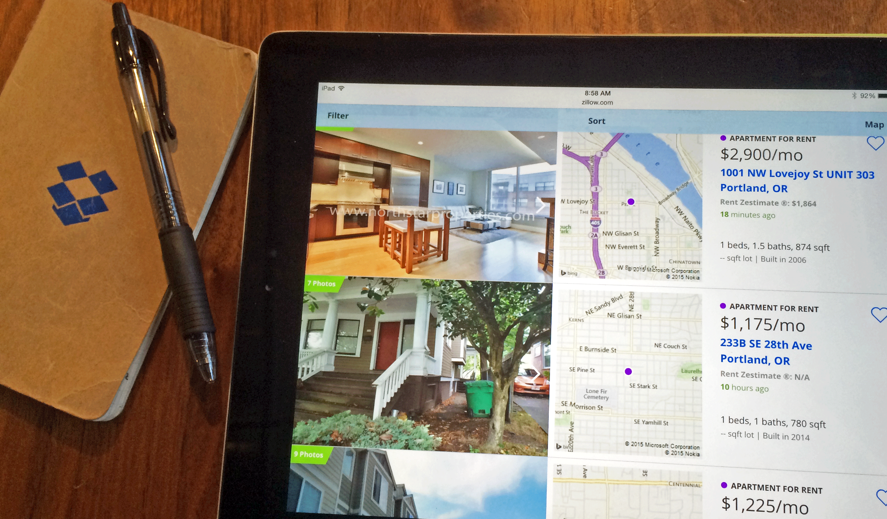 Apartment Hunting or House Hunting with Dropbox
