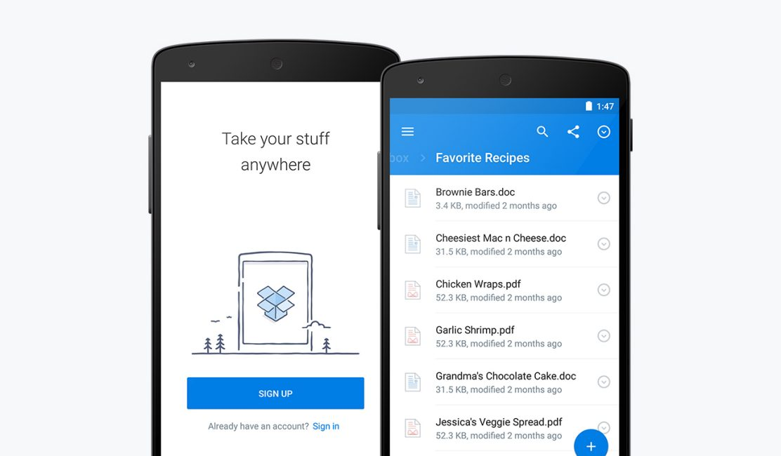 Dropbox for Android 3.0