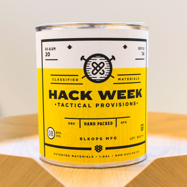 Hack Week paint can