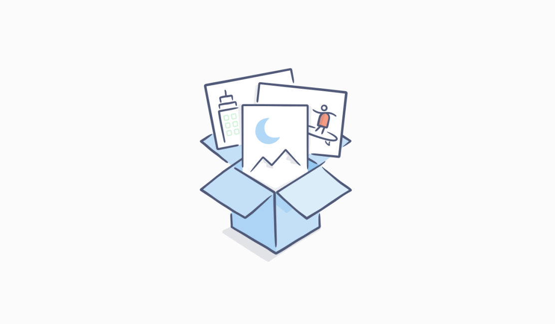Dropbox icon with photos