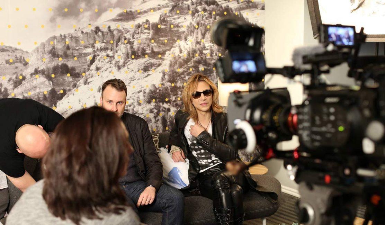 We Are X director Stephen Kijak and subject Yoshiki at 2016 Sundance Film Festival