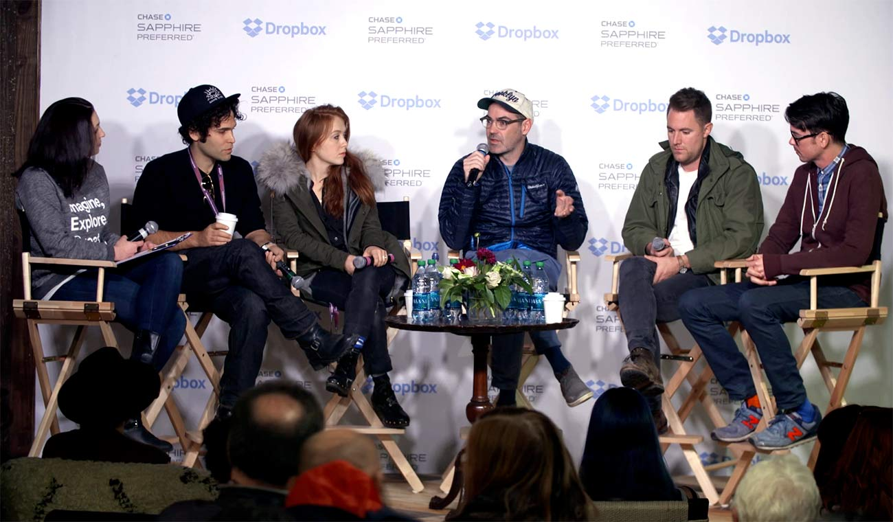 Photo of Sundance filmmaker panel session hosted by Dropbox