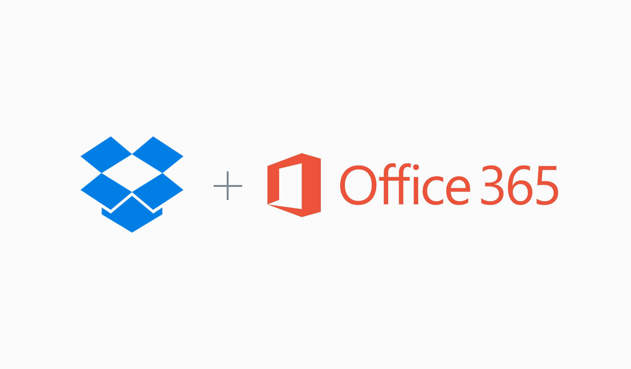 Dropbox Business and Office 365 logos