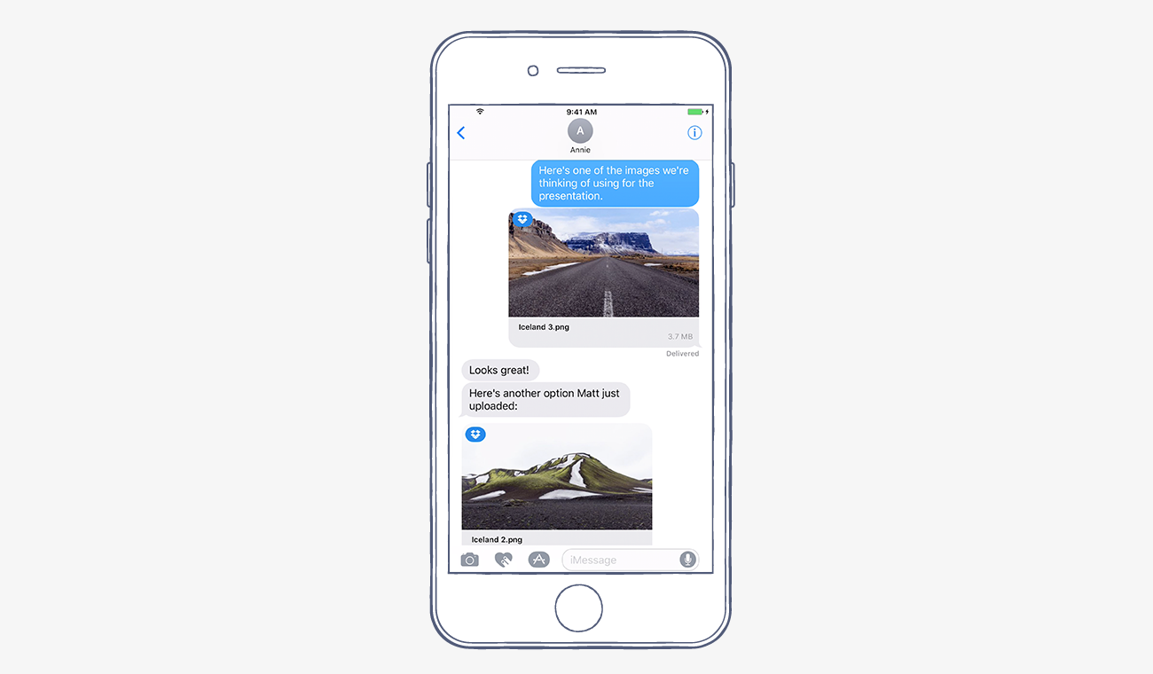 dropbox-imessage-integration