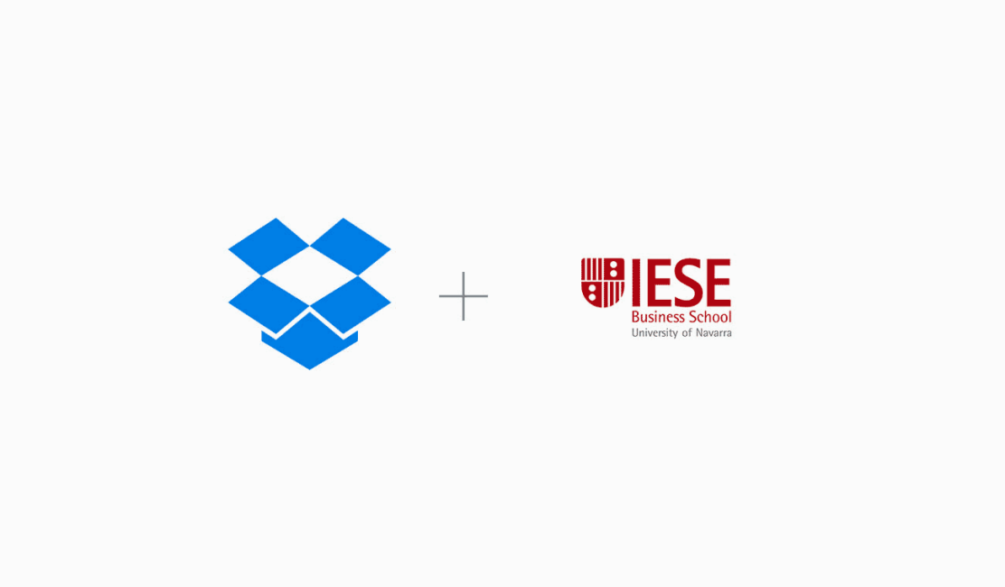 Dropbox and IESE Business School logos