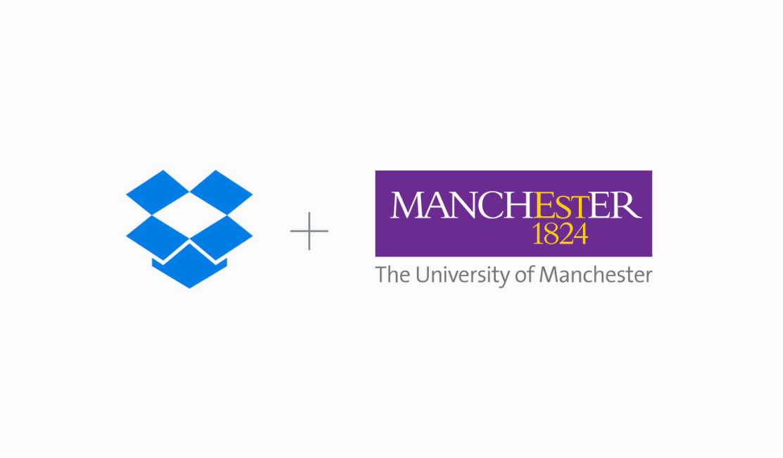 Dropbox and The University of Manchester logos