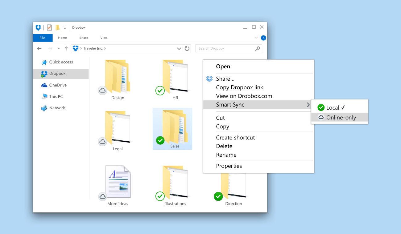 Dropbox Windows Explorer