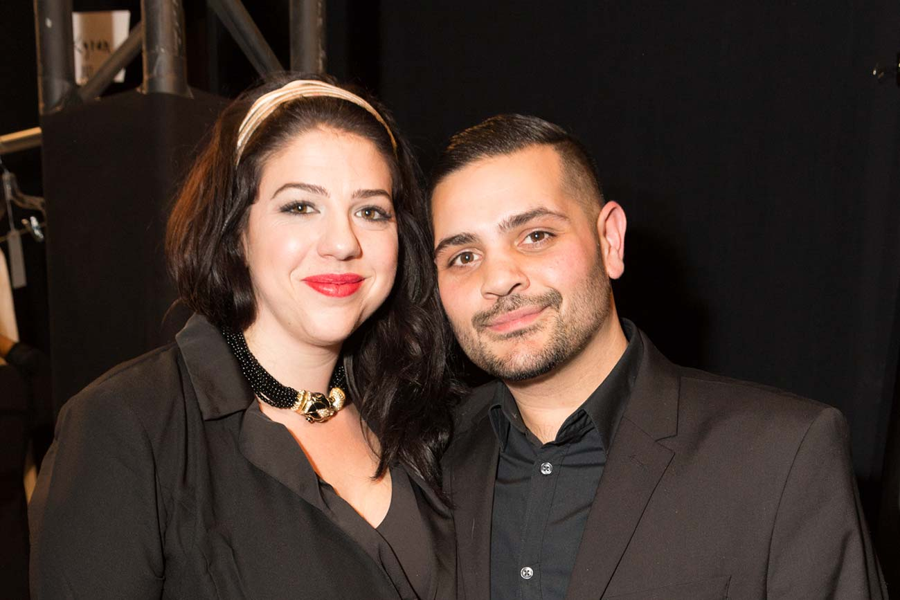 Photo of stylist Charlotte Welch and designer Michael Costello