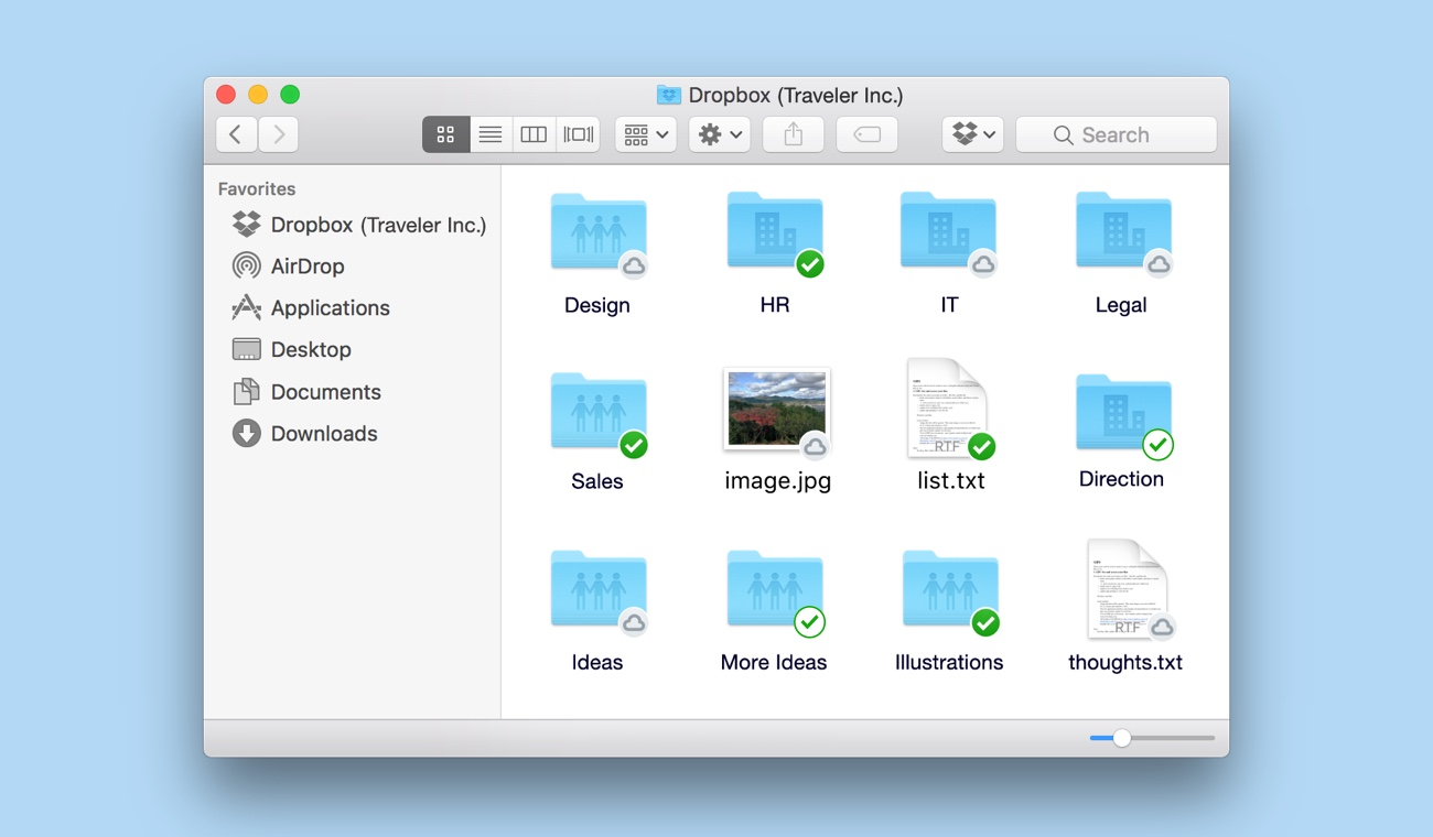 Folders and files stored locally and online-only with Smart Sync
