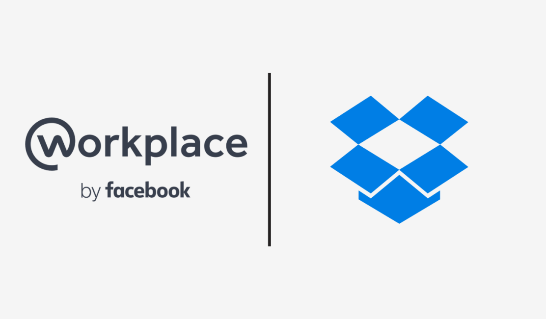 Workplace by Facebook and Dropbox logos