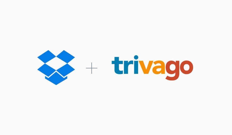 Dropbox and trivago logos