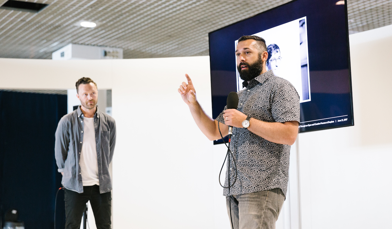 Photo of Collin Whitehead and Aaron Robbs at the 2017 Cannes Lions festival