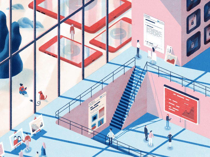 Illustration of the many ways people use Dropbox