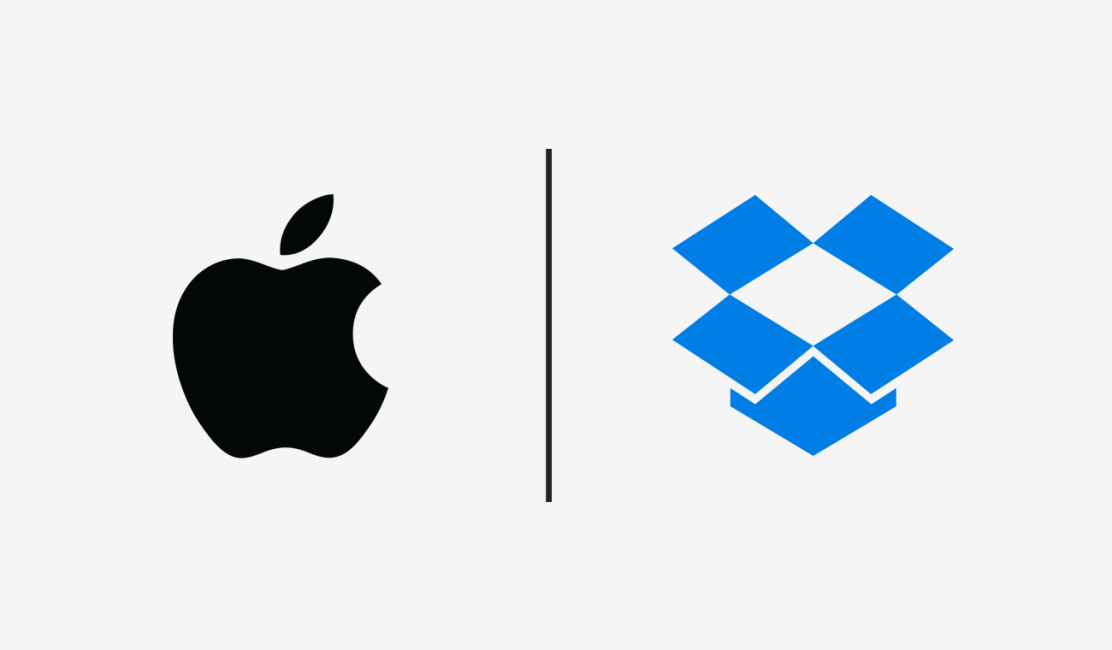 Apple and Dropbox logos