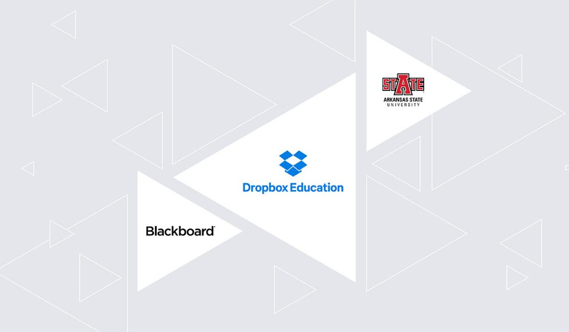 Blackboard, Dropbox Education, and Arkansas State University logos