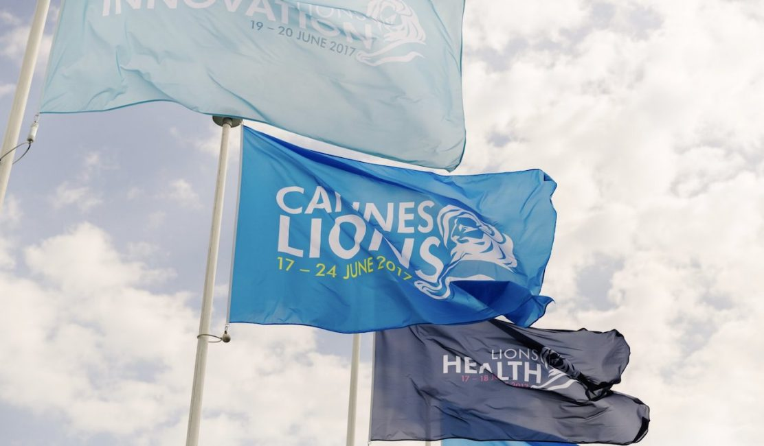 Photo of flags at Cannes Lions festival
