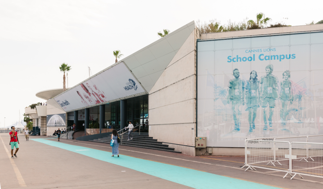 An outside view of the Cannes Lions School