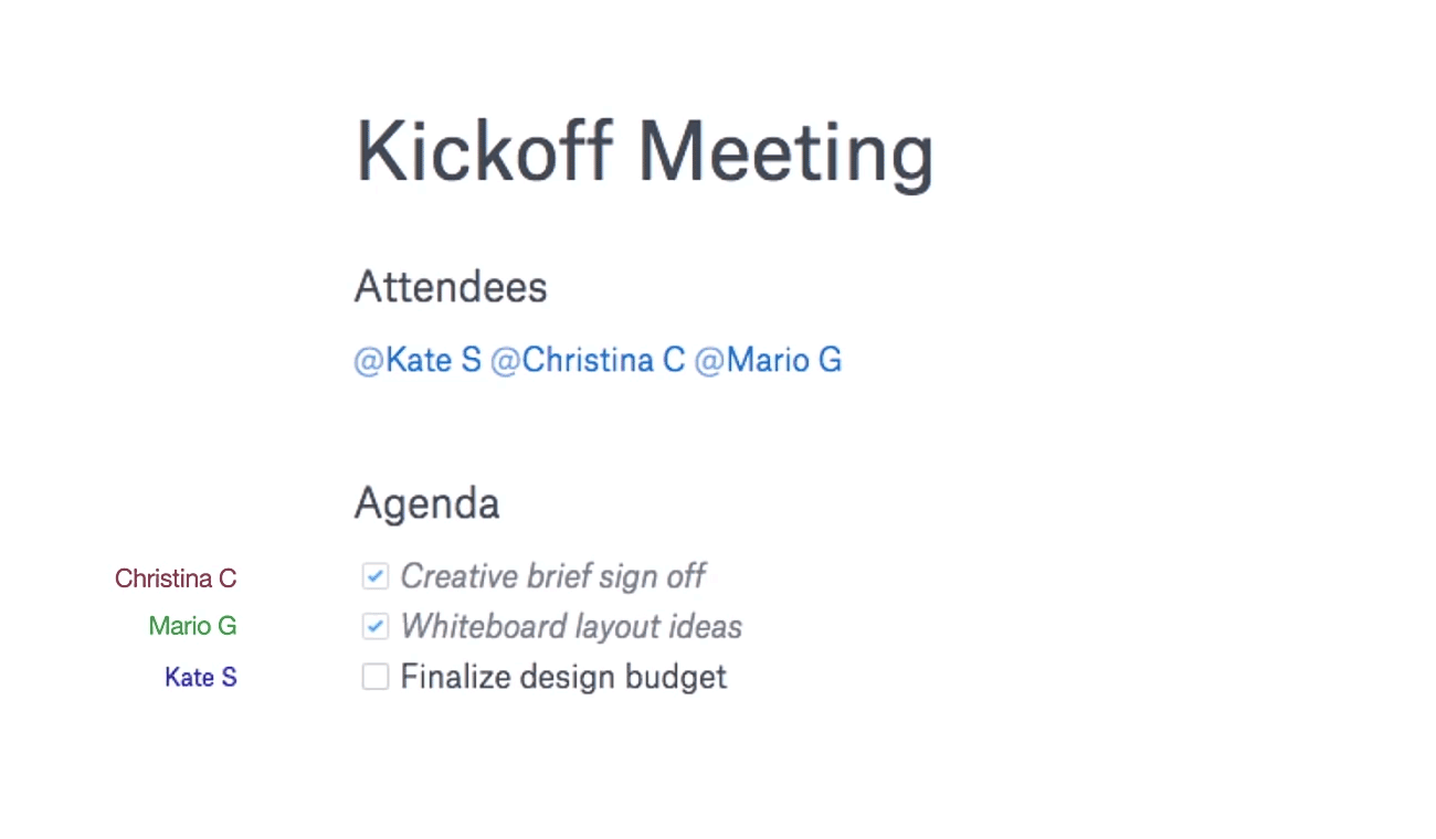 Meeting notes from Dropbox Paper