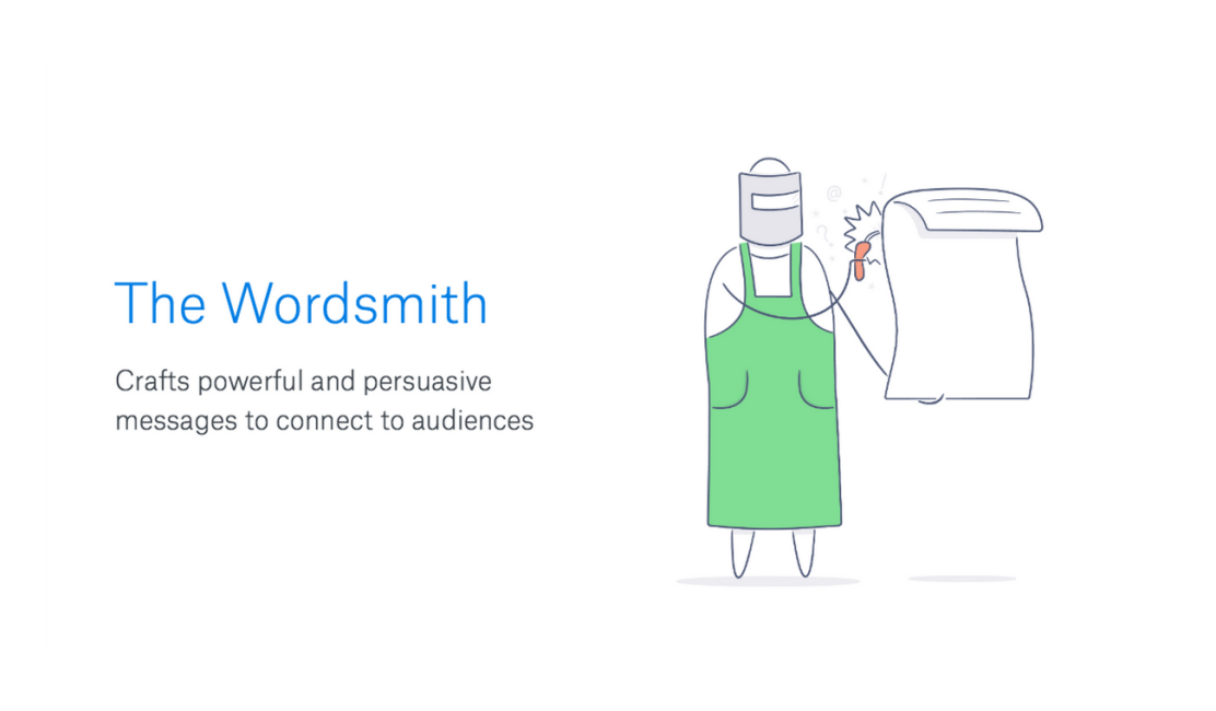 Illustration of wordsmith for effective collaboration post