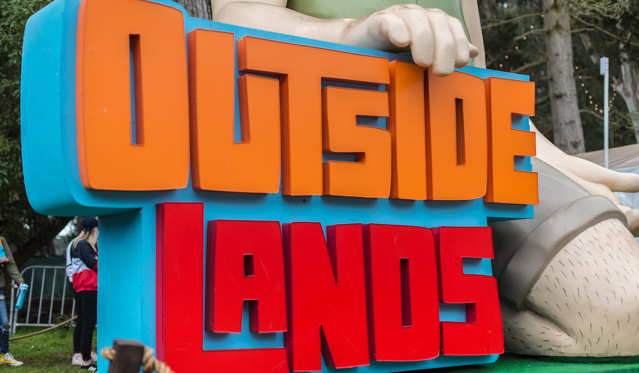 Photo of Outside Lands sign
