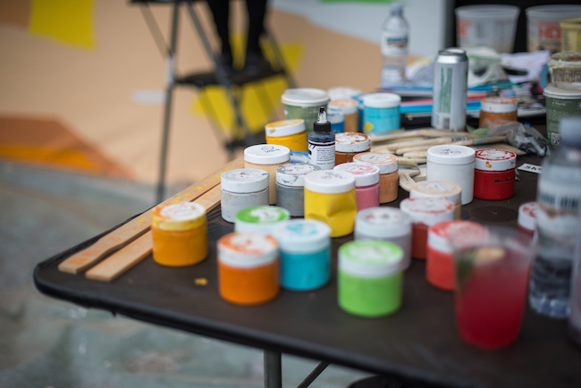 Photo of paints used by Shelby & Sandy at Outside Lands