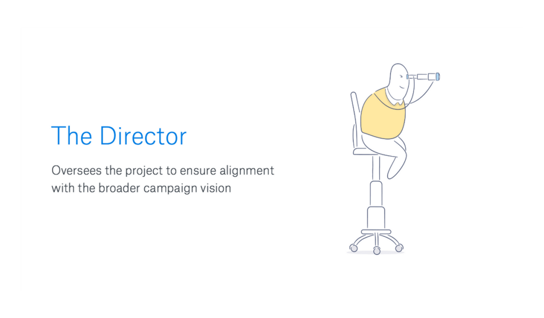 Illustration of The Director person for Effective Collaboration blog post