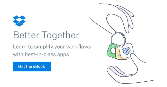 Banner for Dropbox Better Together eBook