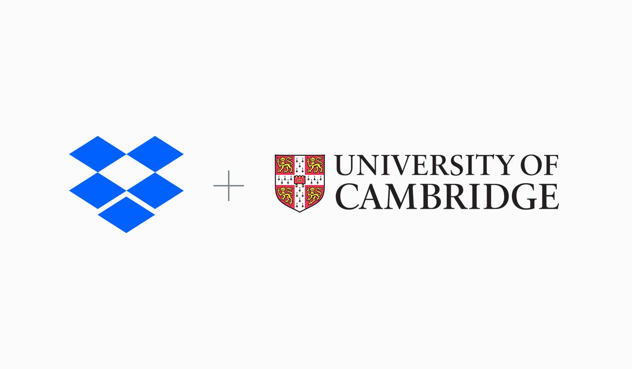 Dropbox and University of Cambridge logos