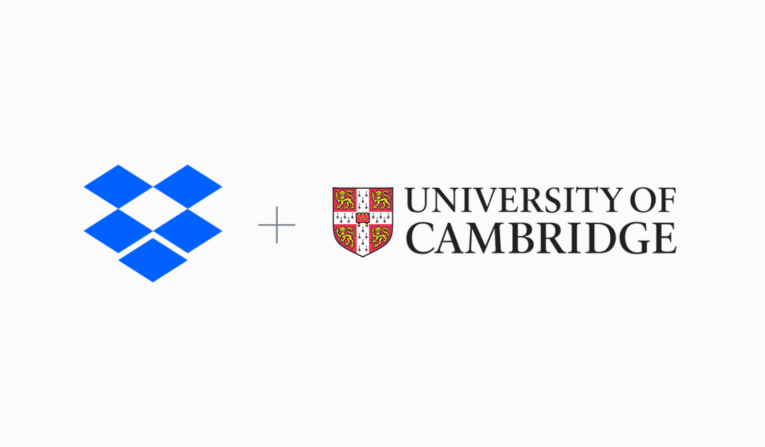Dropbox and University of Cambridge logos