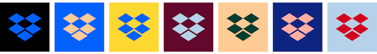 New Dropbox logo and colors