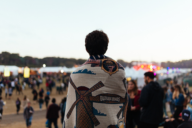 Outside Lands blanket photo by Cal Bingham