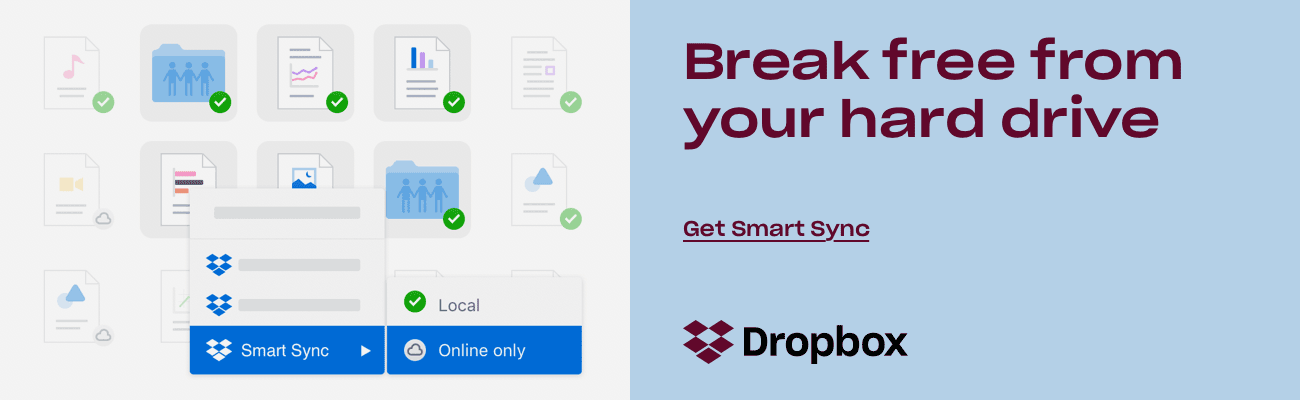 Break free from your hard drive | Get Dropbox Smart Sync